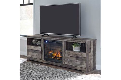 Signature Design By Ashley Derekson 71 Inch Electric Fireplace Tv