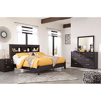 Signature Design by Ashley Reylow 6-Piece King Bedroom Set- Room View