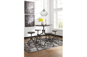 Signature Design by Ashley Odium 5-Piece Counter Height Dining Set- Room View