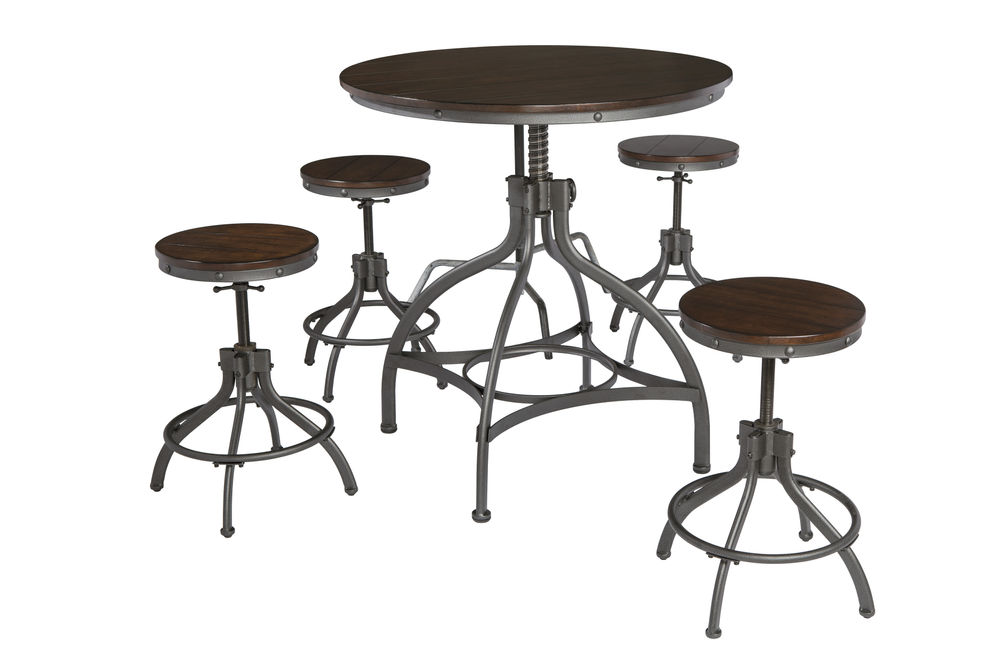 Signature Design by Ashley Odium 5-Piece Counter Height Dining Set