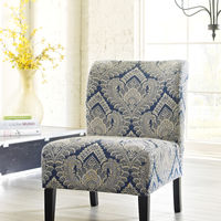 Signature Design by Ashley Honnally - Sapphire  Accent Chair - Sample Room View