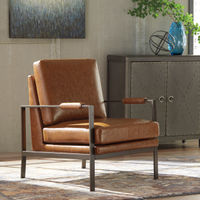 Signature Design by Ashley Peacemaker - Brown Accent Chair - Sample Room View