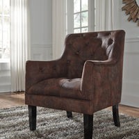 Signature Design by Ashley Drakelle - Mahogany Accent Chair - Sample Room View