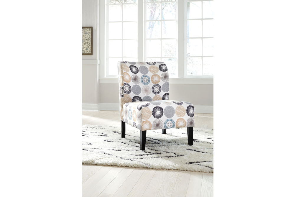 Signature Design by Ashley Triptis Gray and Tan Design Accent Chair - Sample Room View