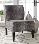 Signature Design by Ashley Triptis - Charcoal Accent Chair Sample Room View