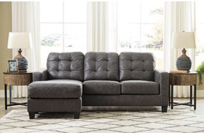 Benchcraft Venaldi-Gunmetal Sofa Chaise - Room View