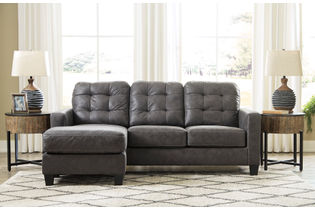 Benchcraft Venaldi-Gunmetal Sofa Chaise - Room View