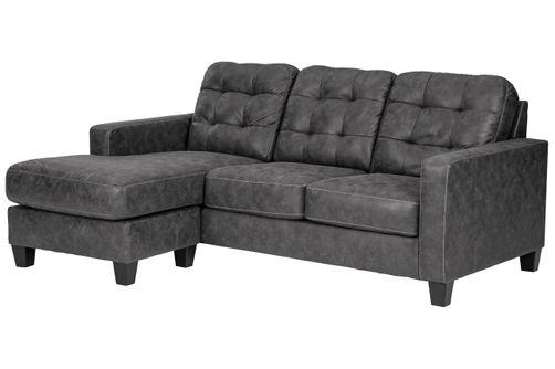 Benchcraft Venaldi-Gunmetal Sofa Chaise - Alternate View