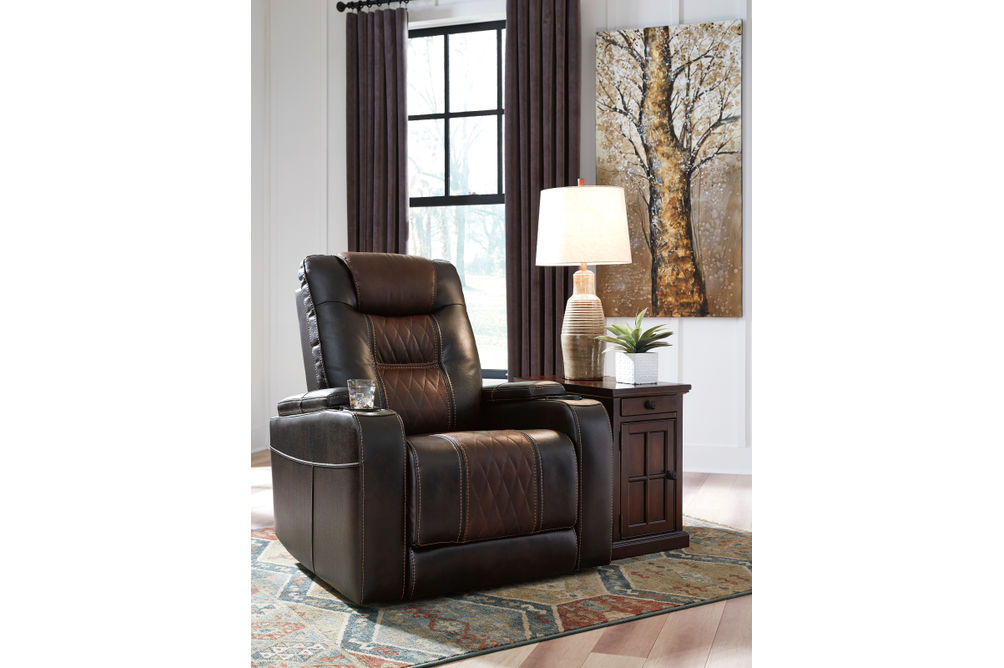 Signature Design by Ashley Composer-Brown Power Recliner - Room View