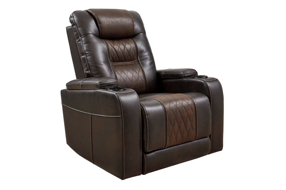 Signature Design by Ashley Composer-Brown Power Recliner -  Alternate Image