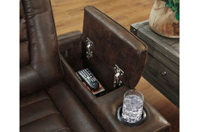 Signature Design by Ashley Game Zone Power Recliner - Armrest Storage and Cup Holders