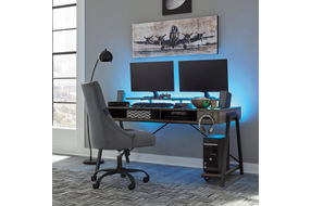 Signature Design by Ashley Barolli-Gray Gaming Desk- Room View