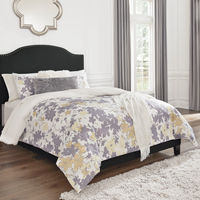 Signature Design by Ashley Adelloni Queen Upholstered Bed - Charcoal - Sample Room View