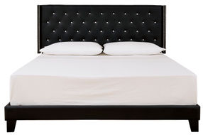 Signature Design by Ashley Vintasso Queen Tufted Upholstered Bed - Black