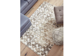 Signature Design by Ashley Jiro Brown-Cream Indoor Accent Rug -  Sample Room View