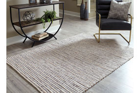 Signature Design by Ashley Kallita Natural-Brown Indoor Accent Rug - Sample Room View