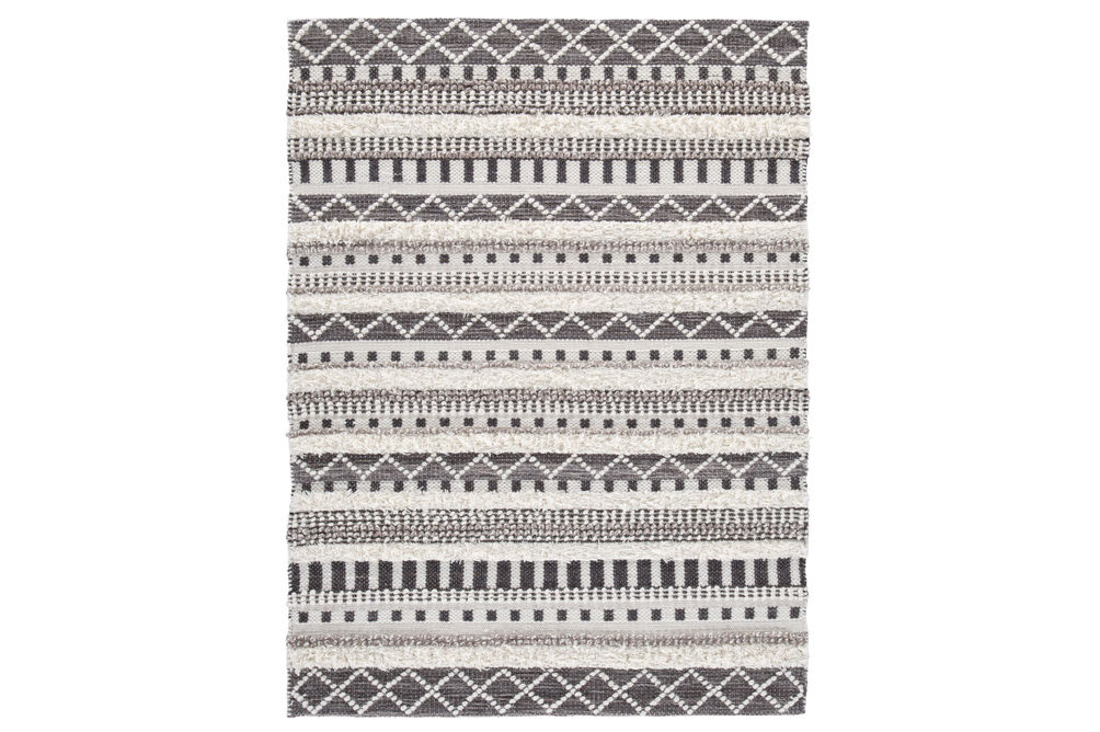 Signature Design by Ashley Karalee Ivory - Brown Wool Accent Rug