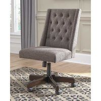 Signature Design by Ashley Graphite Swivel Home Office Desk Chair- Room View
