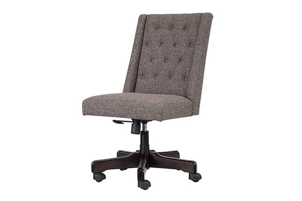 Signature Design by Ashley Graphite Swivel Home Office Desk Chair