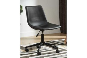 Signature Design by Ashley Black Swivel Home Office Desk Chair- Room View