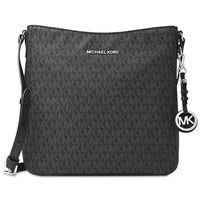 Michael Kors Jet Set Large Signature Messenger Bag - Black