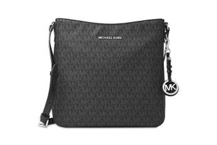 Michael Kors Jet Set Large Signature Messenger Bag - Black