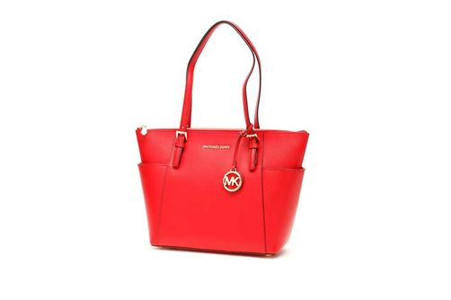 Michael Kors Jet Set East West Large Tote - Bright Red