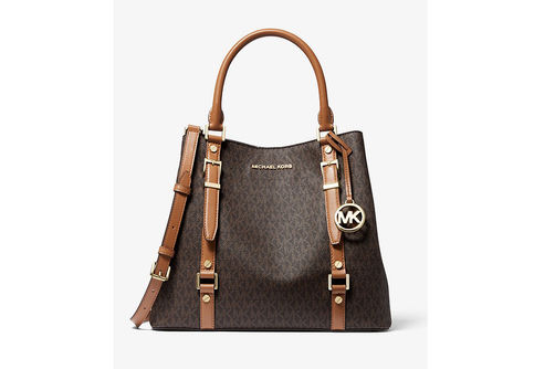 Michael Kors Bedford Legacy Large Logo Tote - Brown