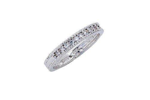 Womens 10K Gold 1/8 CT.T.W. Diamond Wedding Band- Alternate Image