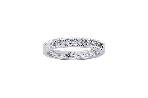 Womens 10K Gold 1/8 CT.T.W. Diamond Wedding Band