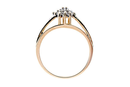 Womens 10K Gold .15 CT.T.W. Diamond Fashion Ring- Side View