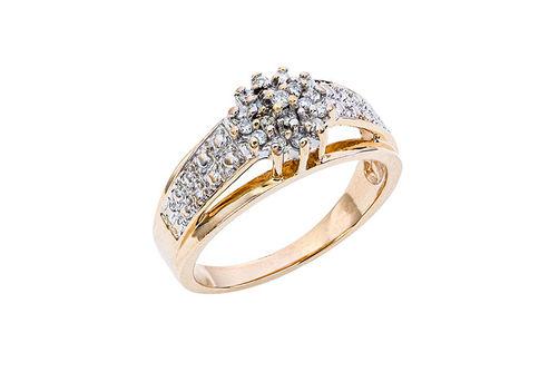 Womens 10K Gold .15 CT.T.W. Diamond Fashion Ring- Alternate Image