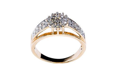 Womens 10K Gold .15 CT.T.W. Diamond Fashion Ring