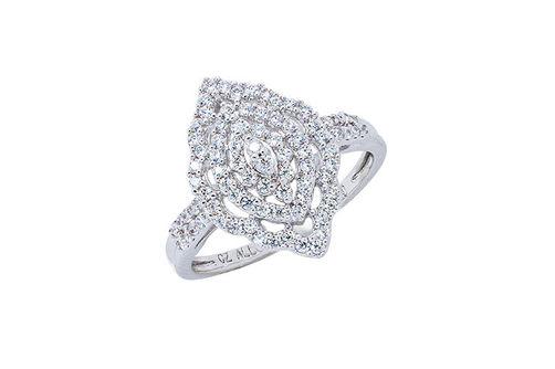 Womens 10K White Gold 3/8 CT.T.W. Diamond Fashion Ring- Alternate Image