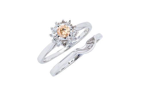 Womens 10K White Gold .25 CT.T.W. Genuine Chocolate Diamond Wedding Set- Alternate View