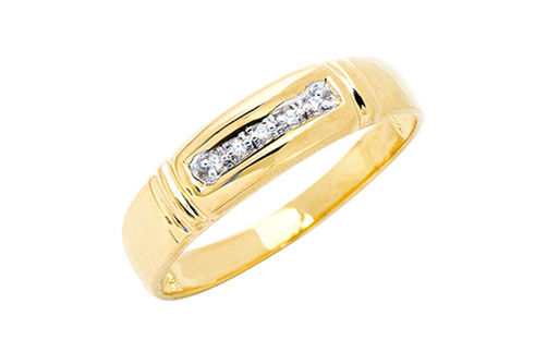 Mens 10K Gold .025 CT.T.W. Genuine Diamond Ring- Alternate Image
