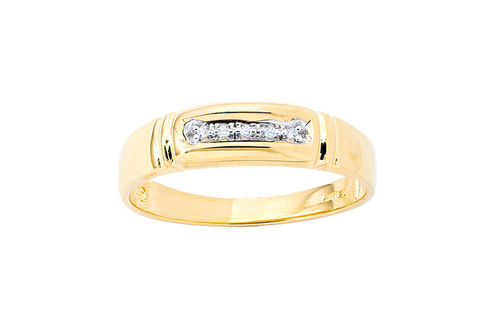 Mens 10K Gold .025 CT.T.W. Genuine Diamond Ring