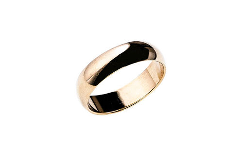 Mens 10K 6mm Wedding Band- Alternate Image