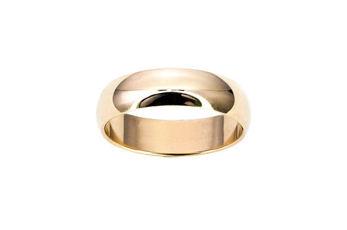 Mens 10K 6mm Wedding Band