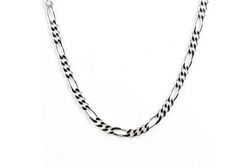 Sterling Silver 6.75mm 24 Inch Figaro Chain