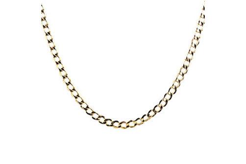 10K Gold 5.25 mm Diamond Cut 22 Inch Semi-Solid Curb Chain