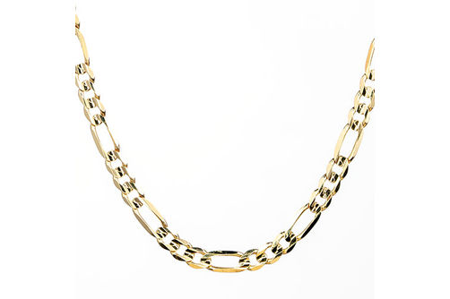 10K Gold 5.25mm 24 Inch Figaro Chain