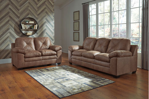 Signature Design by Ashley Speyer-Caramel Sofa and Loveseat- Room View