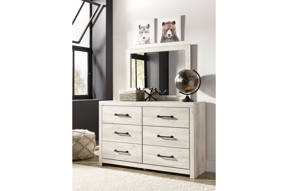 Signature Design by Ashley Cambeck 6-Piece Twin Bedroom Set - Dresser and Mirror