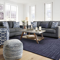 Benchcraft Kiessel Nuvella-Steel Sofa and Loveseat with Accent Chair