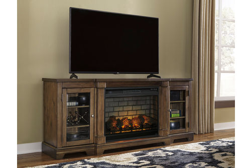 Signature Design by Ashley Flynnter 75 Inch Electric Fireplace TV Stand- Room View