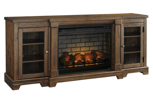 Signature Design by Ashley Flynnter 75 Inch Electric Fireplace TV Stand