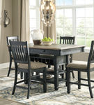 Signature Design by Ashley Tyler Creek 5-Piece Counter Height- Room View Dining Set