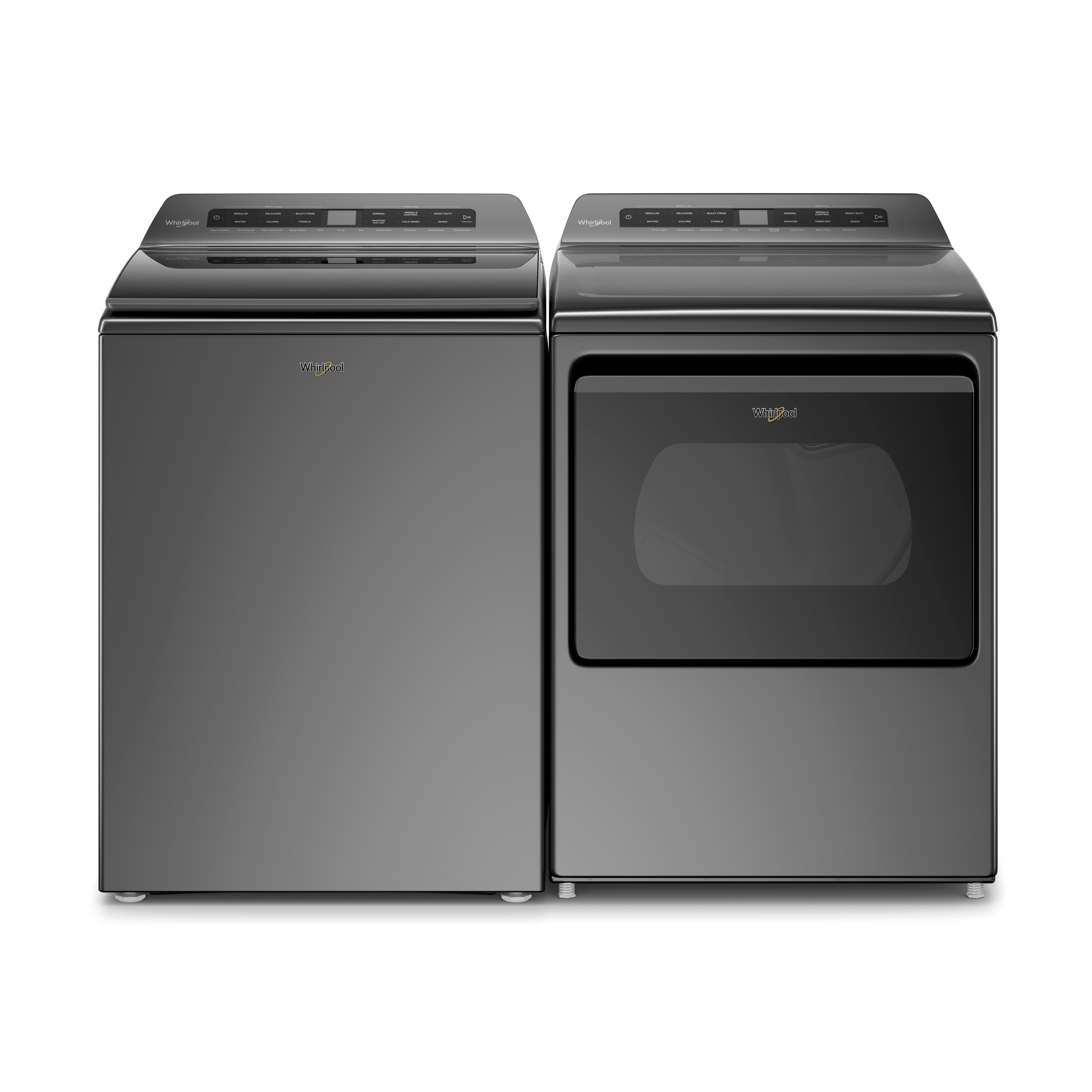 Whirlpool Chrome Shadow 4.8 Cu. Ft. Top Load Washer and 7.4 Cu. Ft. Electric Dryer