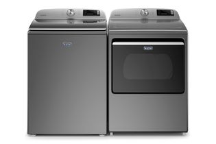 Maytag Metallic Slate 4.7 Cu. Ft. Top-Load Washer and 7.4 Cu. Ft. Electric Dryer